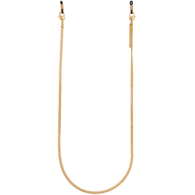 Photo: Dsquared2 Gold Eyeglass Chain