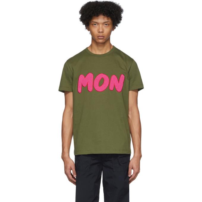 Photo: Moncler Green Boucle Logo T-Shirt