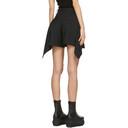 Sacai Black Draped Pleated Shorts
