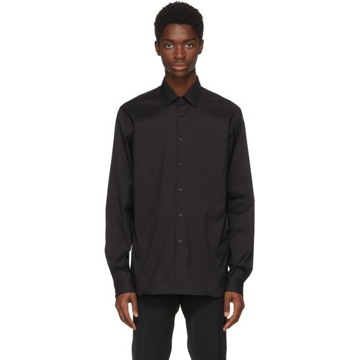 Photo: Prada Black Stretch Poplin Shirt