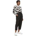 Stella McCartney Black and White Intarsia Tiger Sweater