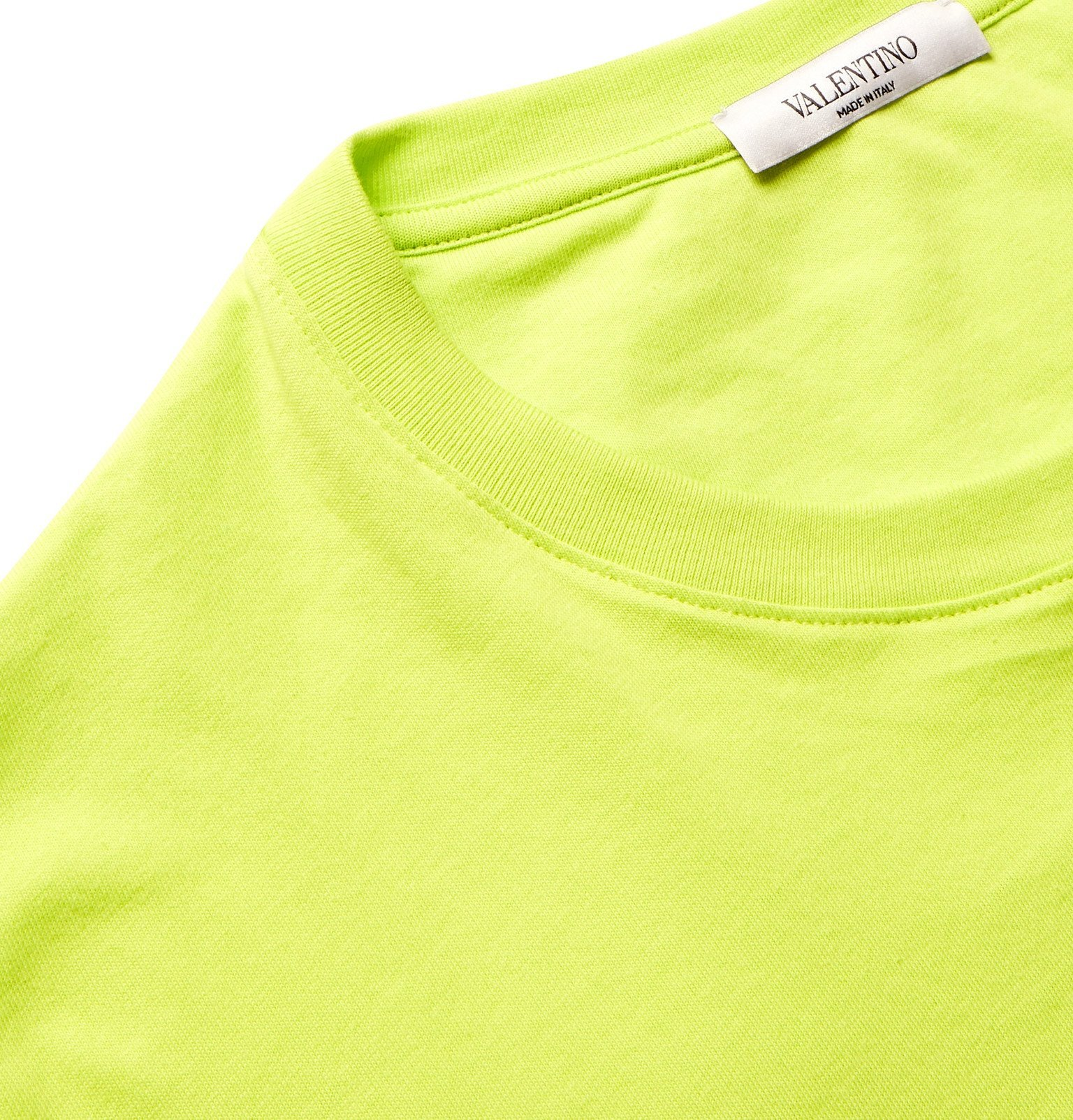 Valentino - Logo-Print Cotton-Jersey T-Shirt - Green