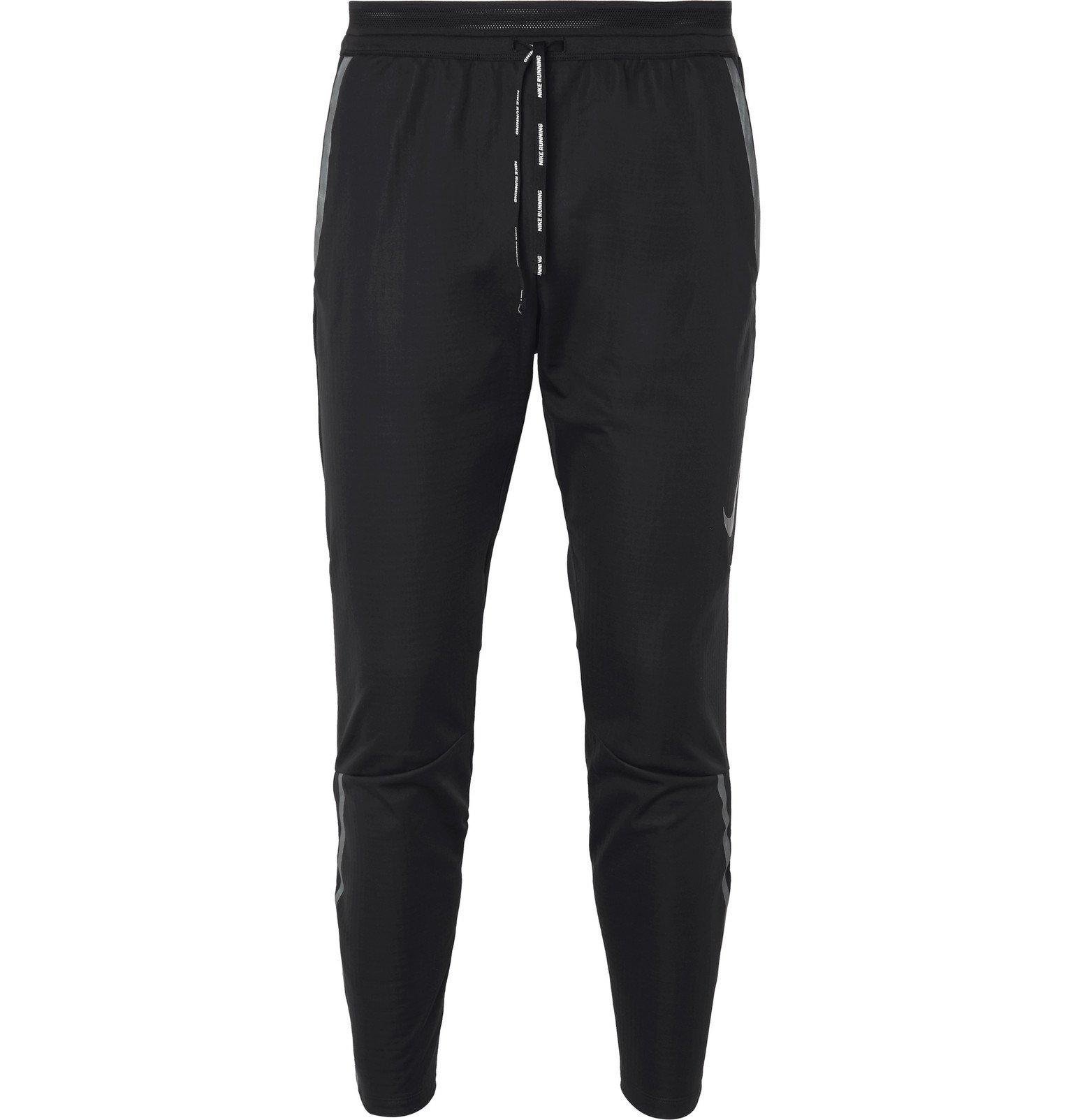 Nike Running - Shield Swift Tech-Jersey Track Pants - Black