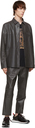 Hugo Grey Leather Lennet Pants