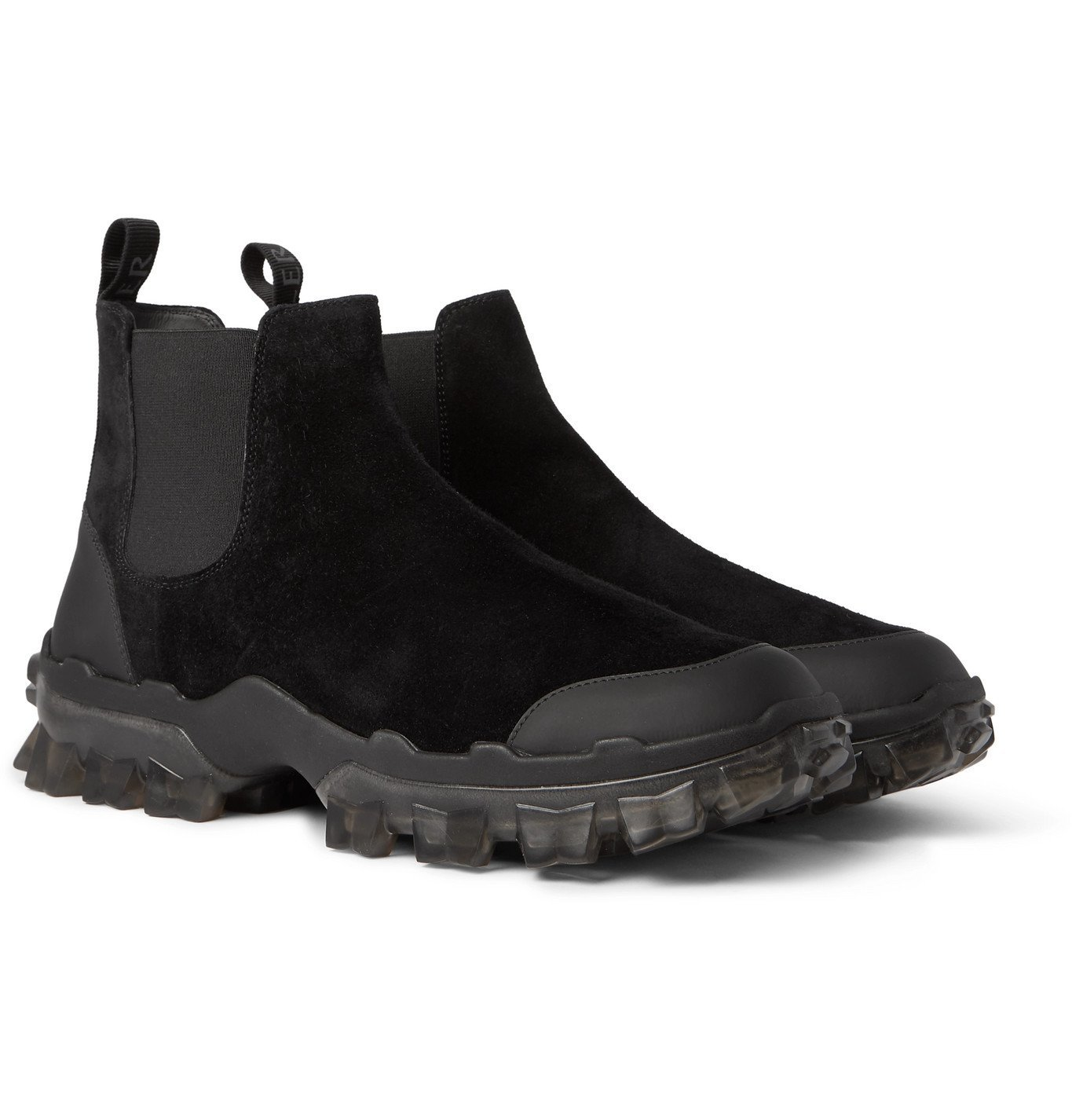 Photo: Moncler - Hayden Stivale Rubber-Trimmed Suede Boots - Black