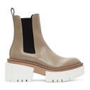 Stella McCartney Beige Emilie Chelsea Boots
