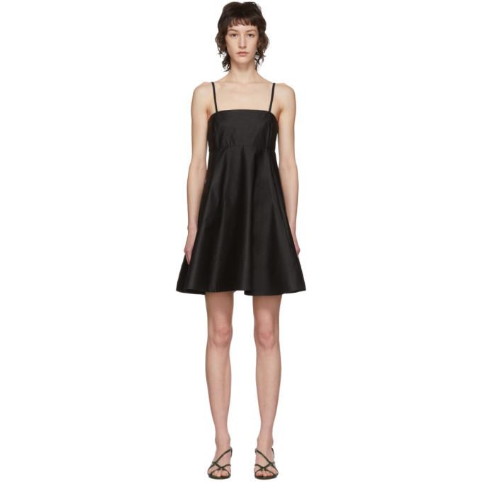 3.1 Phillip Lim Black Spaghetti Strap A-Line Dress