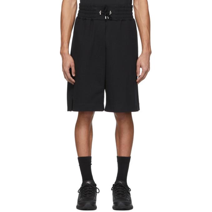 Photo: Balmain Black Flocked Logo Shorts