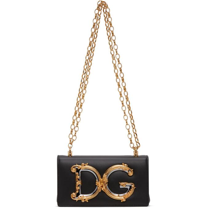 Photo: Dolce and Gabbana Black DG Girls Phone Bag