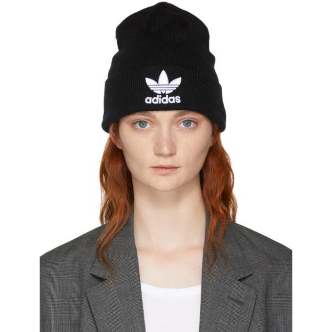 adidas Originals Black Trefoil Beanie Adidas b663e64d772