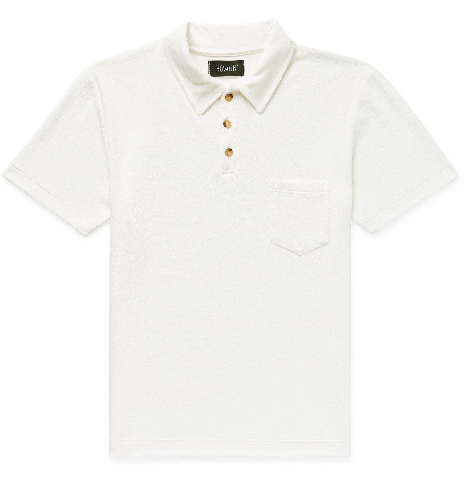 Photo: Howlin' - Mr Fantasy Cotton-Blend Terry Polo Shirt - Neutrals