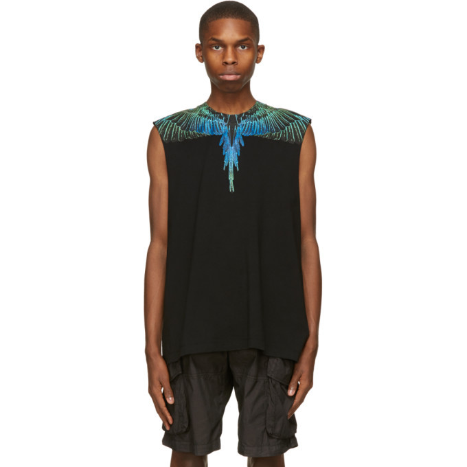 Photo: Marcelo Burlon County of Milan Black Wings Tank Sleeveless T-Shirt
