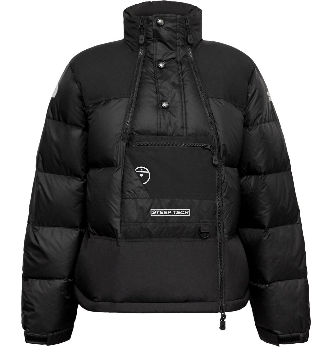 Photo: The North Face - Steep Tech Twill-Panelled Printed Quilted Nylon-Ripstop Hooded Down Jacket - Black