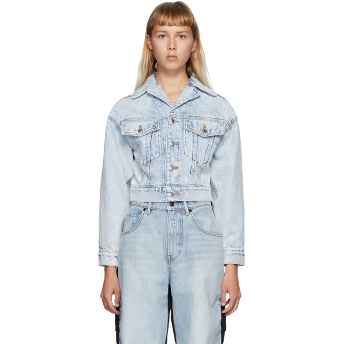 Photo: Alexander Wang Blue Denim Lapel Collar Jacket