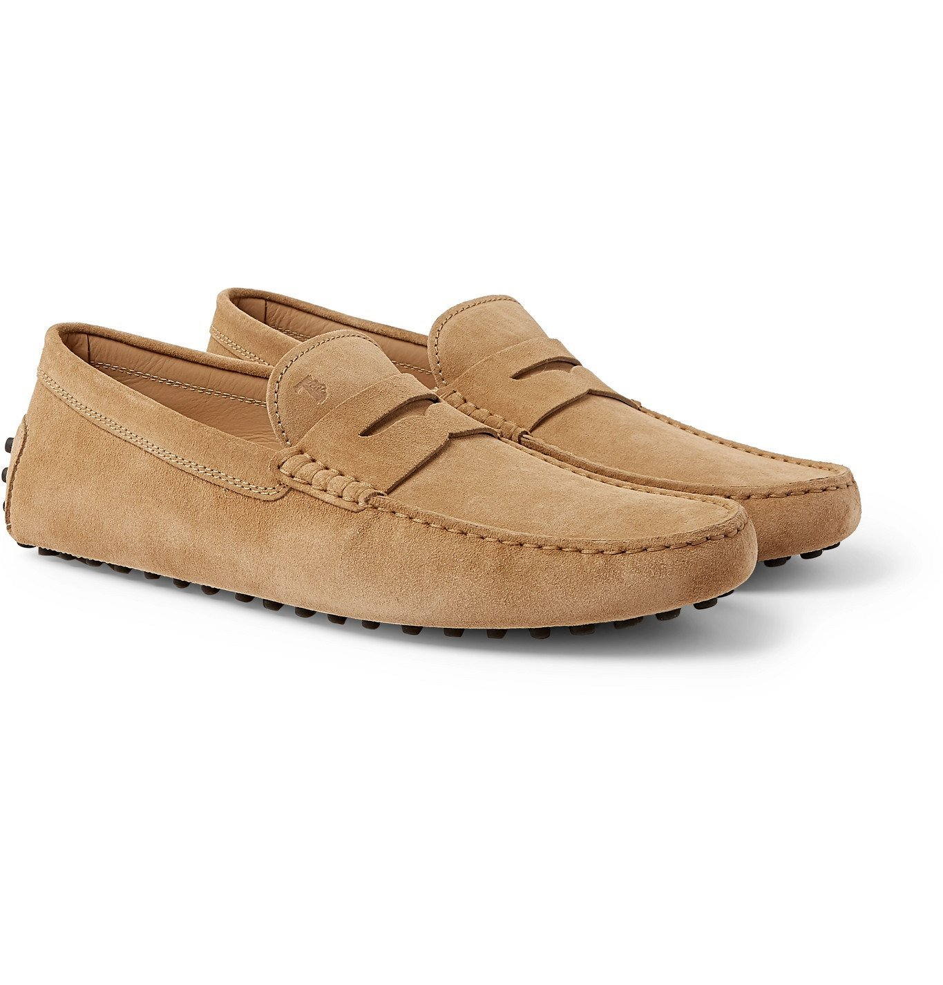 Photo: Tod's - Gommino Suede Driving Shoes - Neutrals