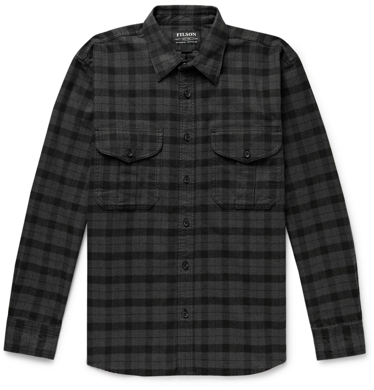 Filson - Alaskan Guide Checked Cotton-Flannel Shirt - Black