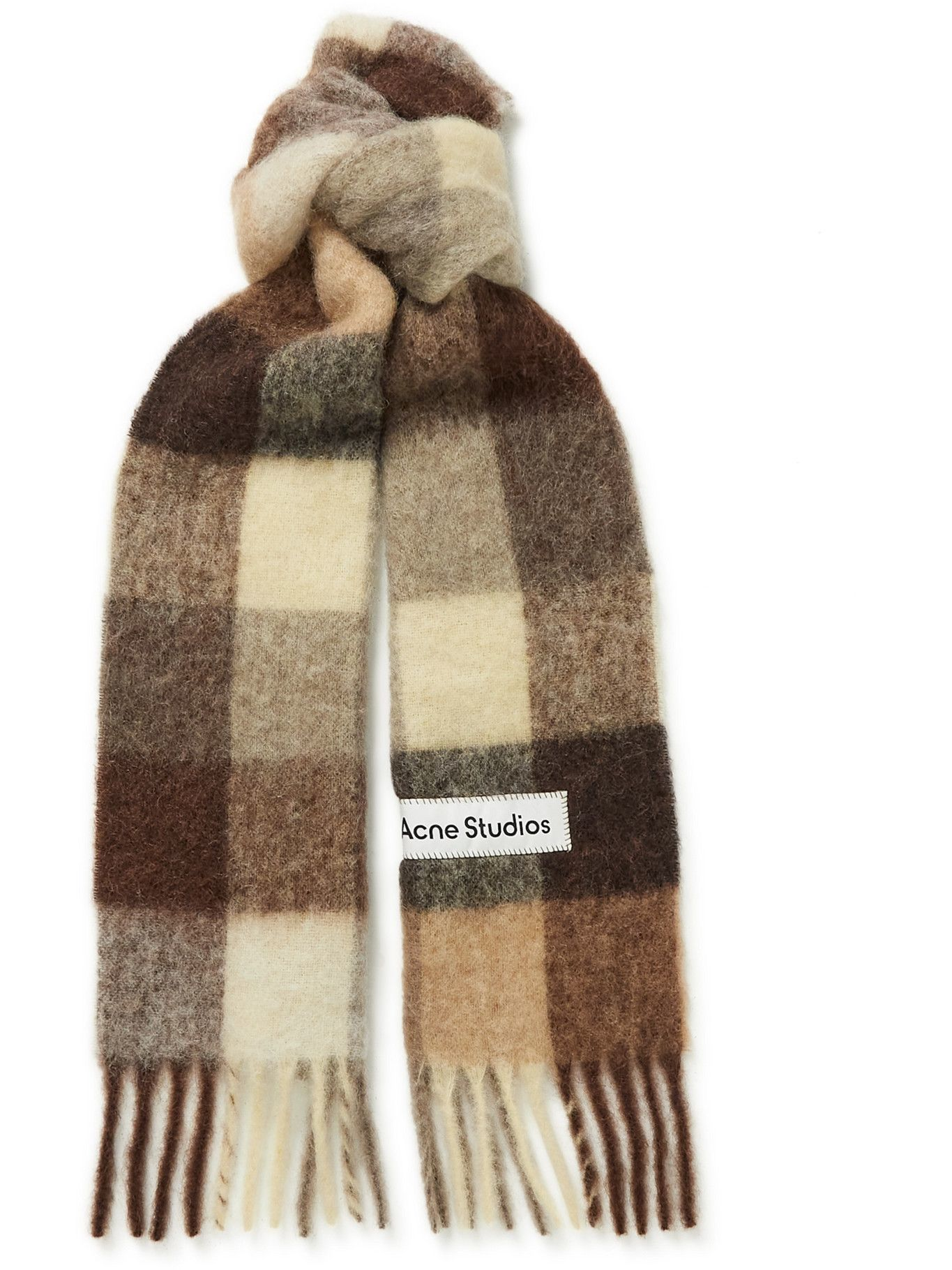 Photo: Acne Studios - Checked Knitted Scarf