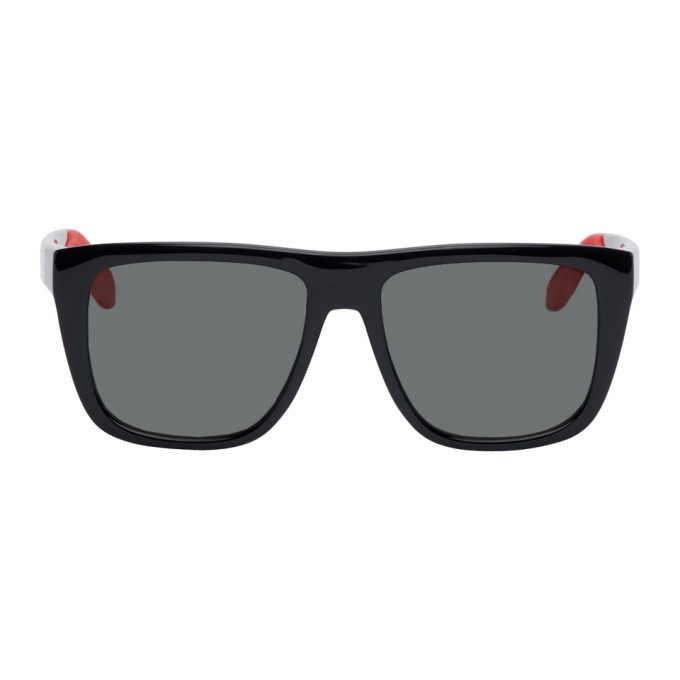 Photo: Alexander McQueen Black and Red Court Sunglasses