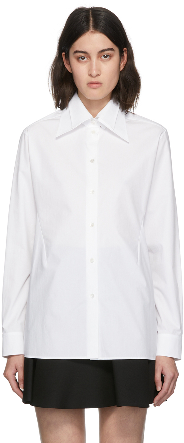 Photo: Valentino White Detachable Collar Poplin Shirt