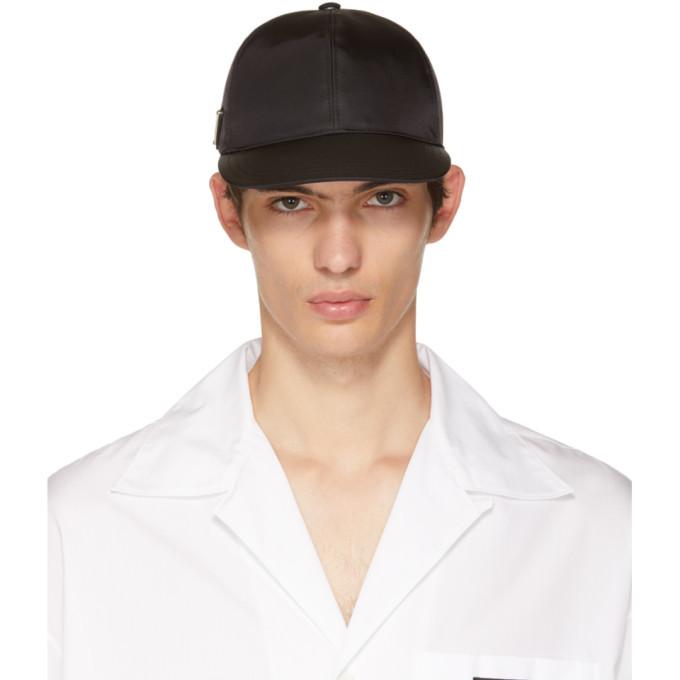 Photo: Prada Black Triangle Logo Cap