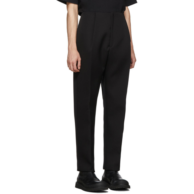 Bottega Veneta Black Wool Double Trousers