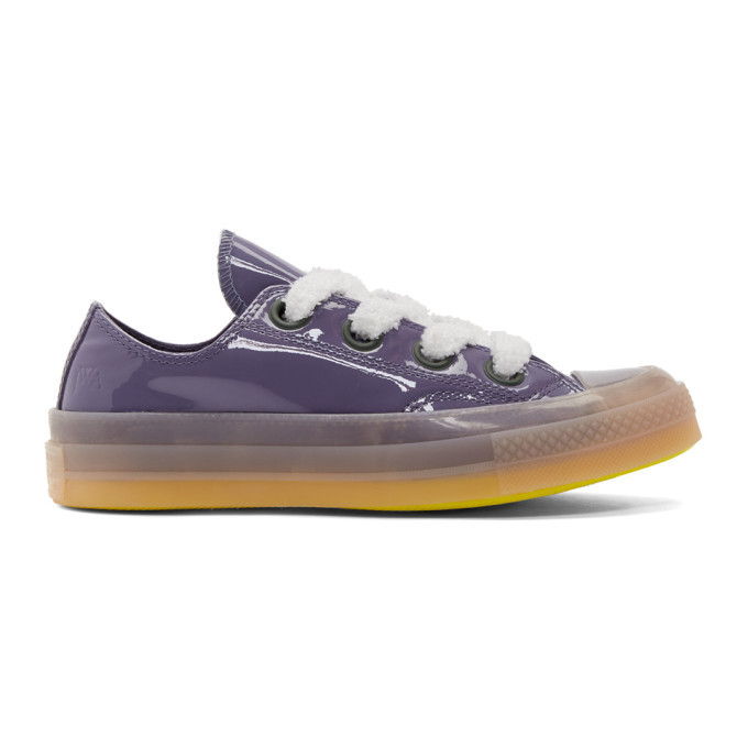 3235a6ea0fd346 low price jw anderson purple converse edition patent chuck taylor 70 toy  low sneakers a920f af893