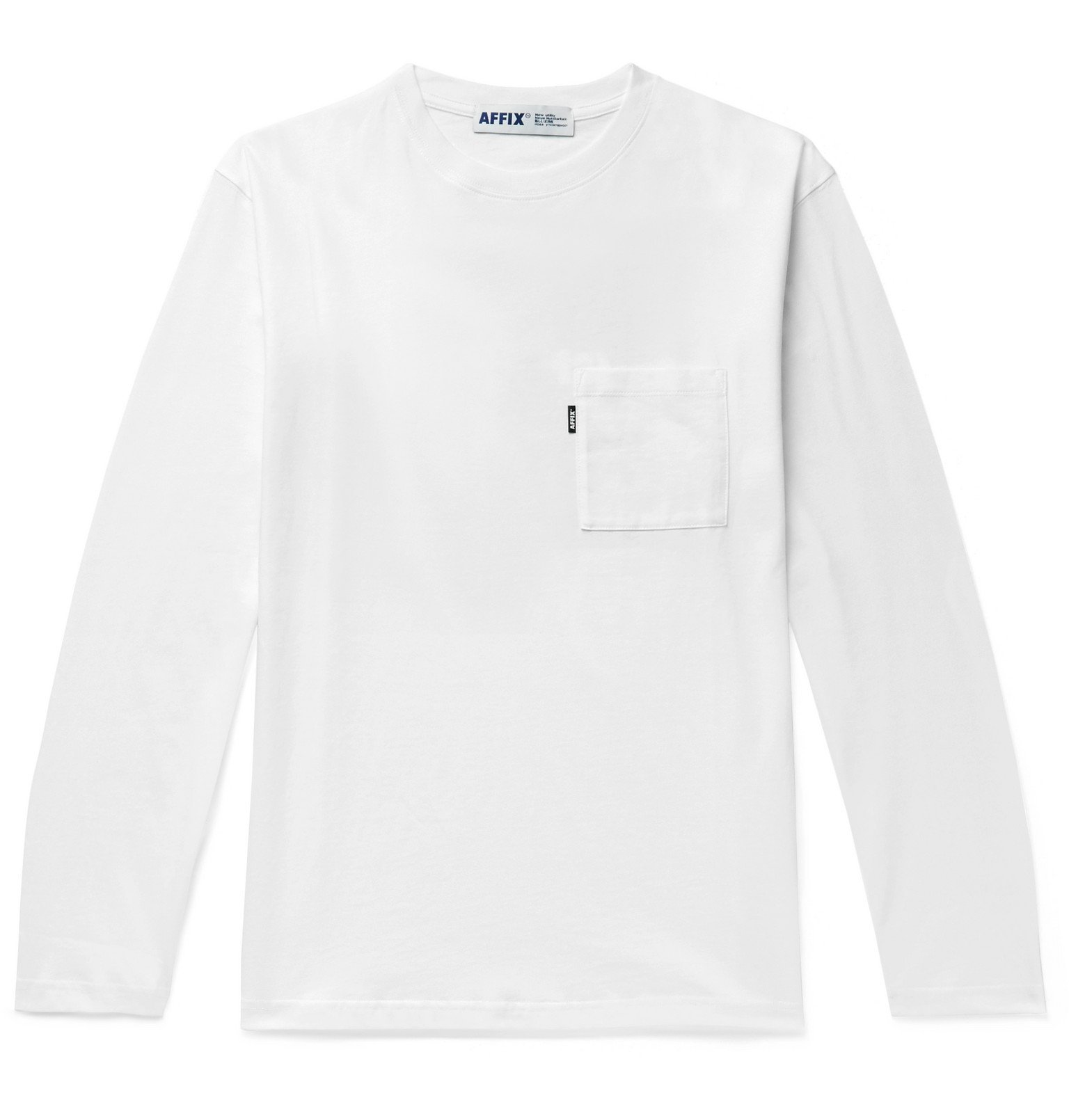 Photo: AFFIX - Printed Cotton-Jersey T-Shirt - White