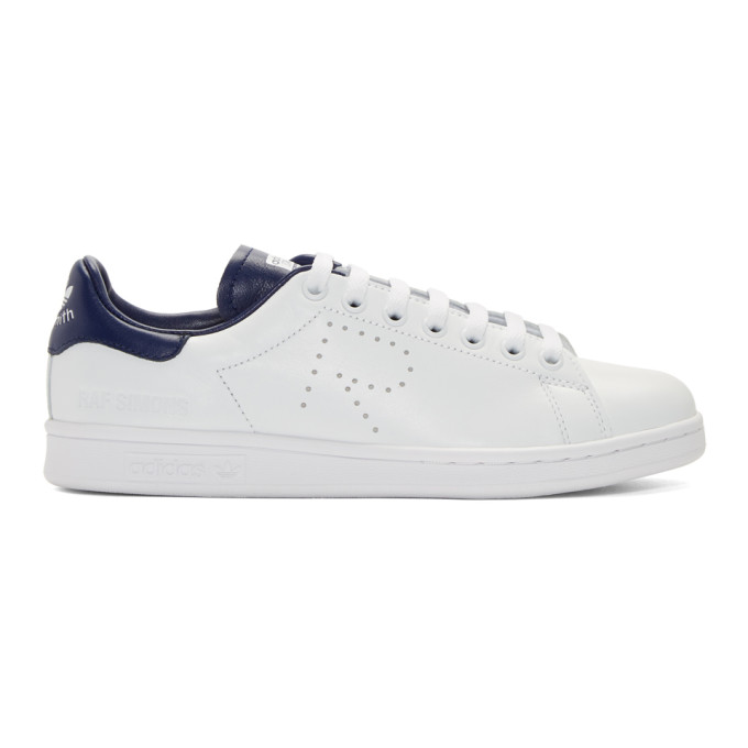 Photo: Raf Simons White and Blue adidas Originals Edition Stan Smith Sneakers