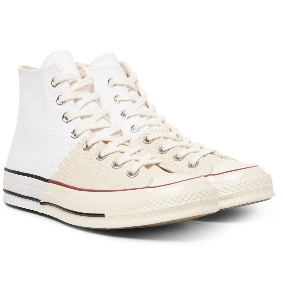 Photo: Converse - 1970s Chuck Taylor All Star Colour-Block Canvas High-Top Sneakers - White