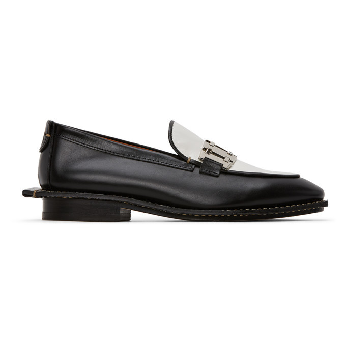Photo: Lanvin Black and White Gourmette Loafers