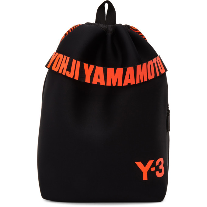 Photo: Y-3 Black Drawstring Backpack