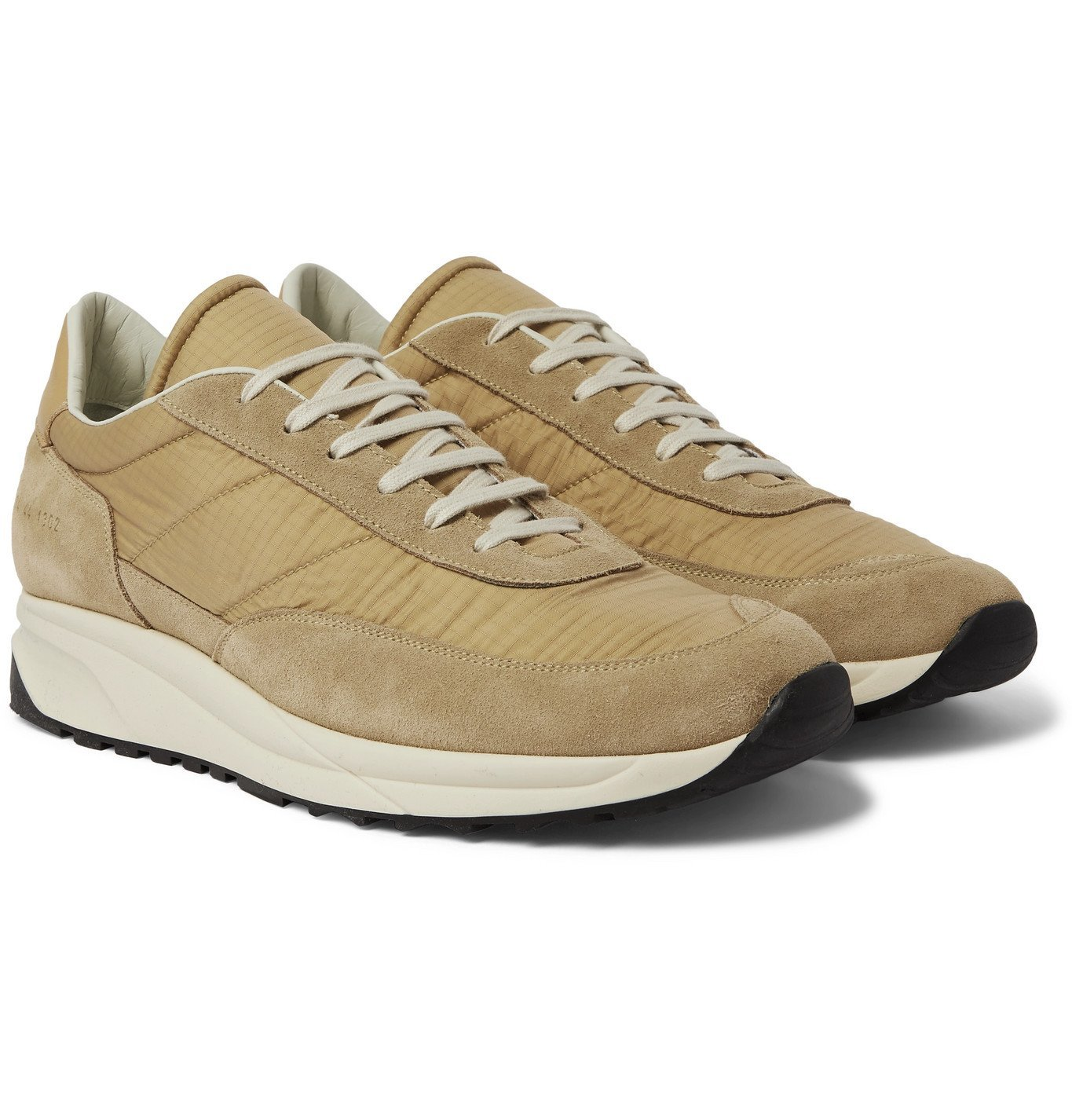 Photo: Common Projects - Track Classic Leather-Trimmed Suede and Ripstop Sneakers - Brown