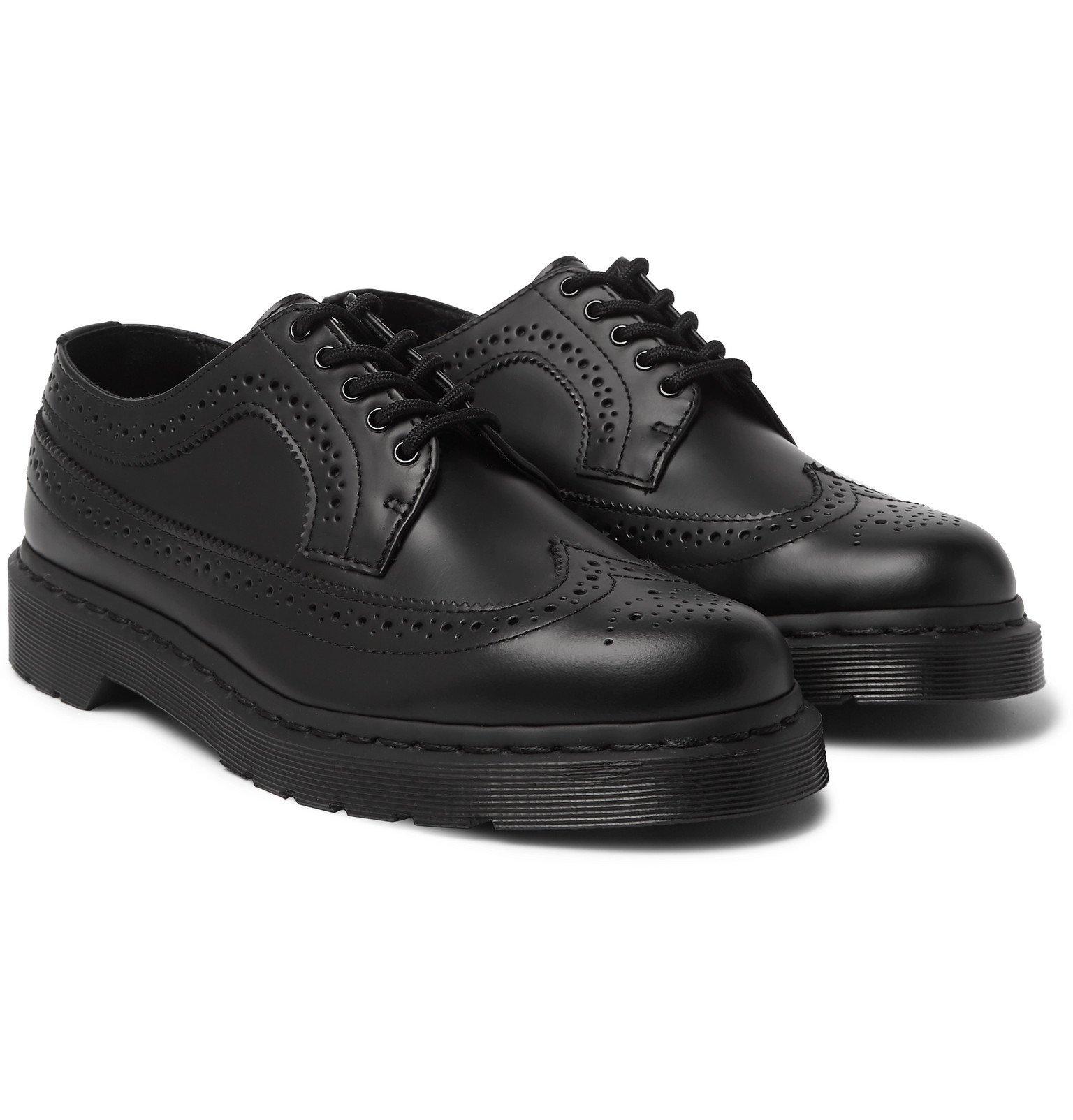Photo: Dr. Martens - Mono Leather Wingtip Brogues - Black