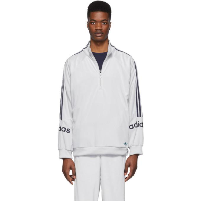 adidas Originals Grey Velour Track Jacket