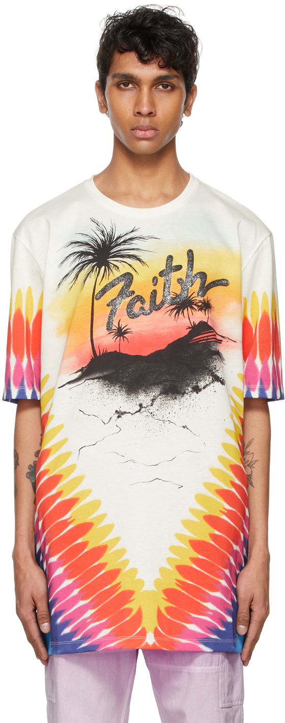 Photo: Faith Connexion Off-White Printed Oversized T-Shirt