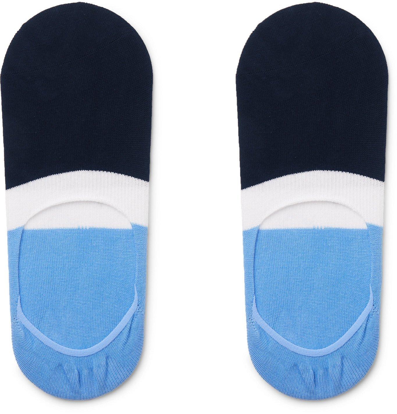 Photo: Hugo Boss - Striped Stretch Cotton-Blend No-Show Socks - Multi