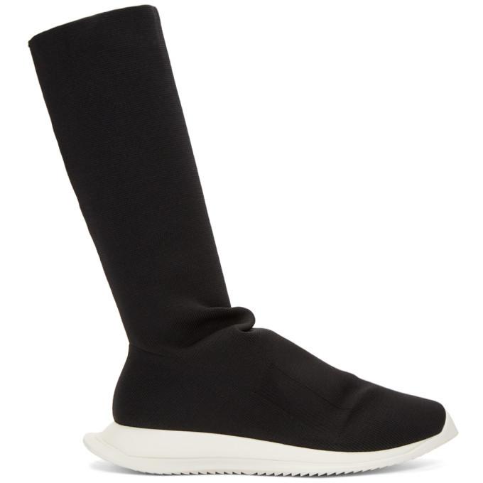 Photo: Rick Owens Drkshdw Black New Runner Sock High Sneakers