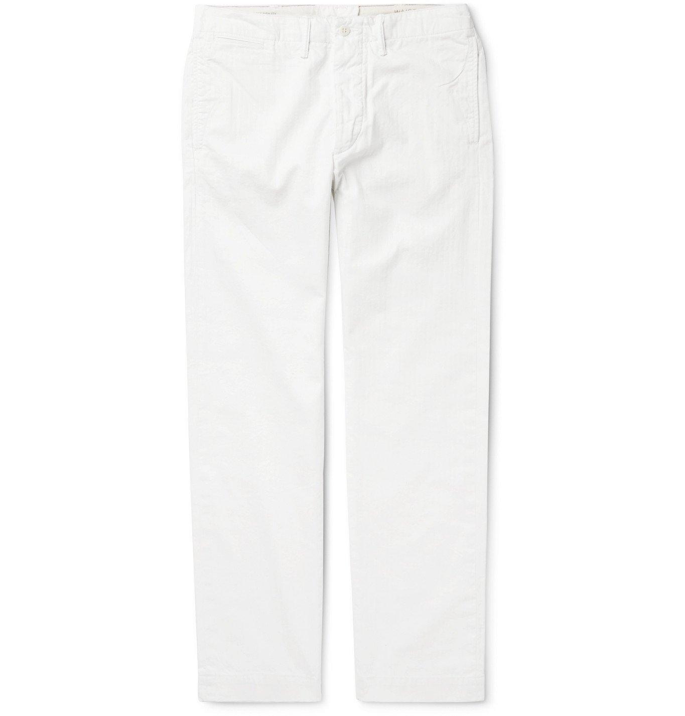 RRL - Tapered Cotton-Herringbone Trousers - Neutrals