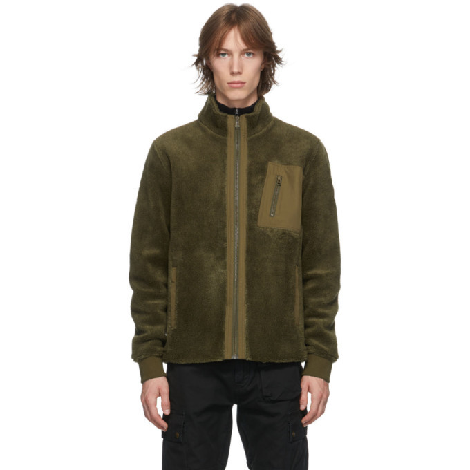 Photo: Belstaff Khaki Fleece Herne Jacket