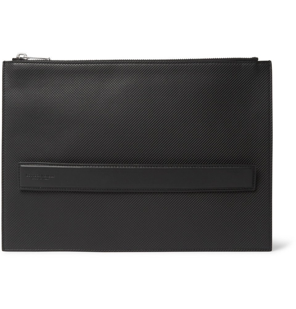 Bottega Veneta - Textured-Leather Pouch - Black