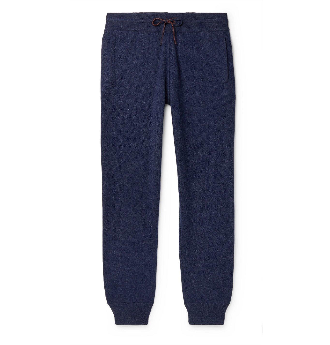 Photo: Loro Piana - Slim-Fit Tapered Cashmere Sweatpants - Blue