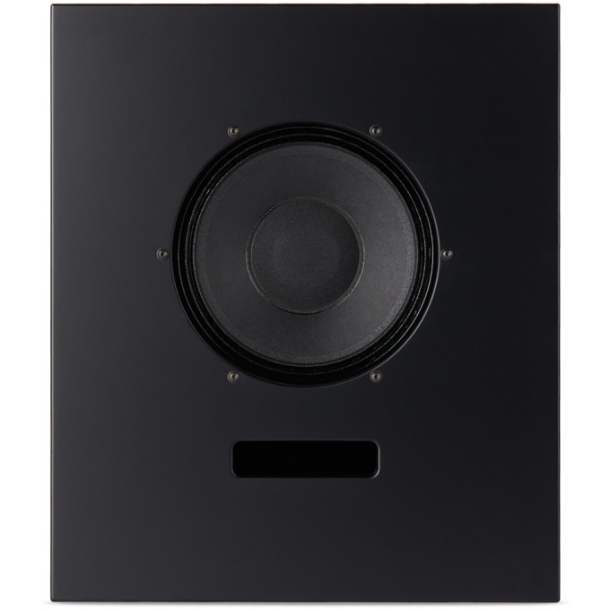 Photo: Ojas SSENSE Exclusive Black Wood Bookshelf Speaker