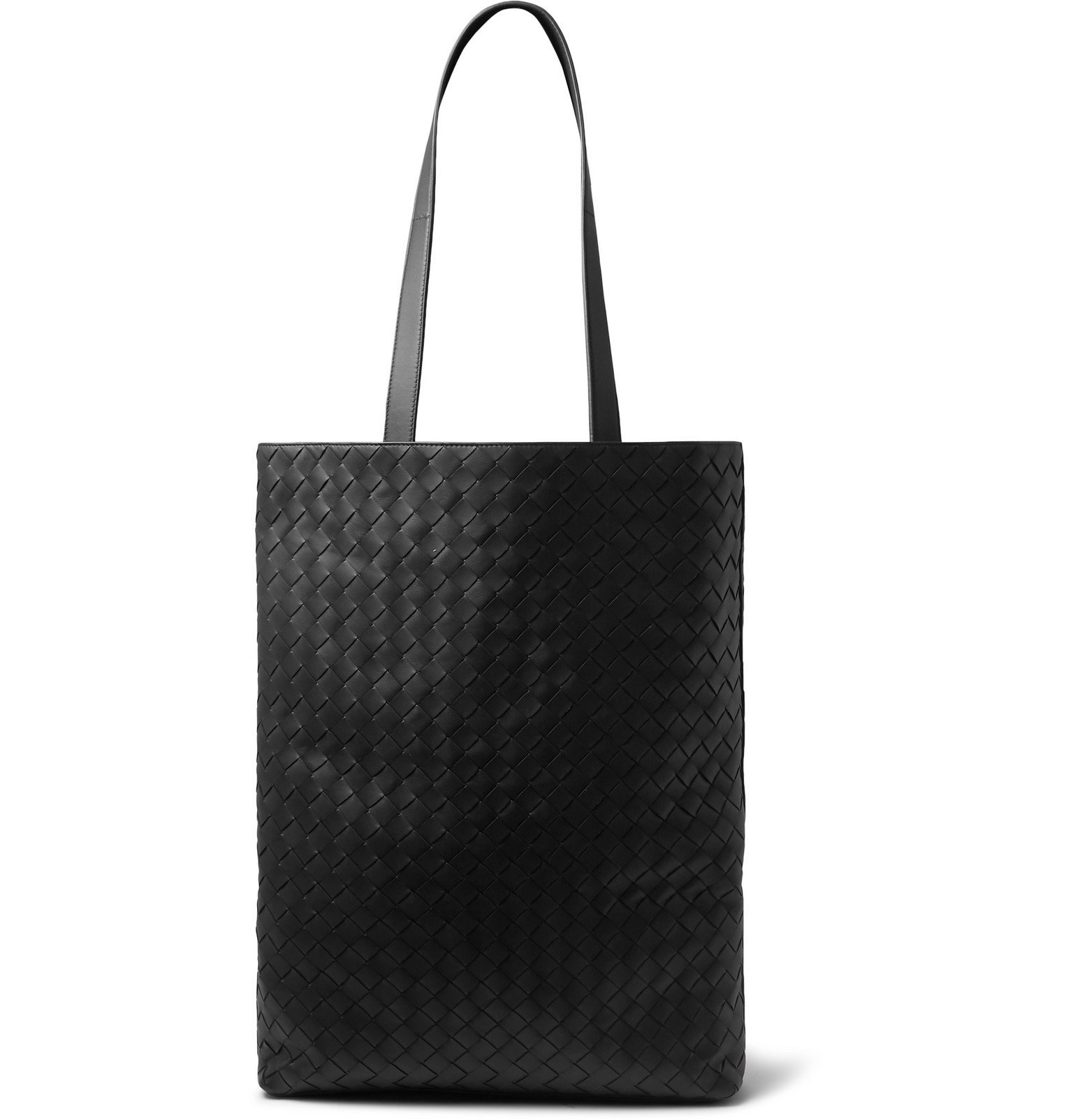 Photo: Bottega Veneta - Large Intrecciato Leather Tote Bag - Black