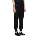 3.1 Phillip Lim Black Cropped Drop Lounge Pants
