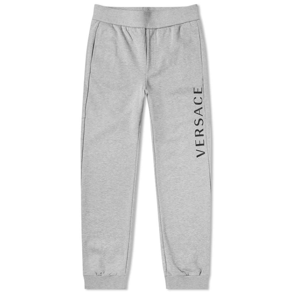 Photo: Versace Printed Logo Sweat Pant Grey & Black