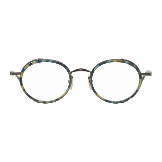 Photo: Thom Browne Tortoiseshell and Gunmetal TB-813 Glasses