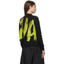 Nina Ricci Navy and Green Wool Painted Sweater