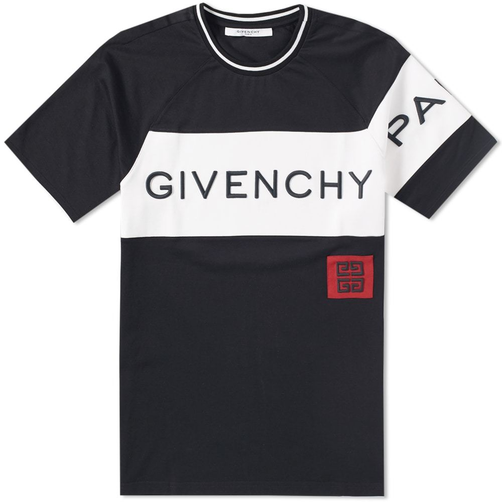 Photo: Givenchy Panelled Logo Tee