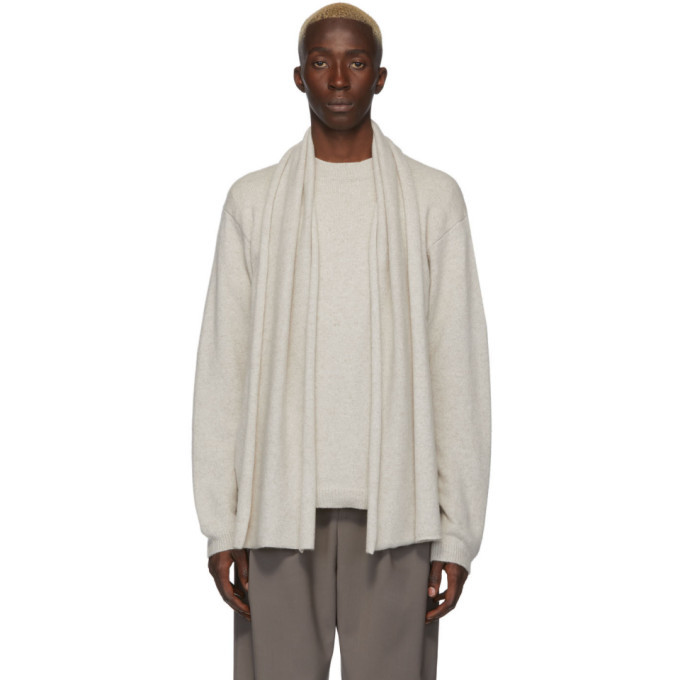Photo: Deveaux New York Off-White Cashmere Scarf Sweater