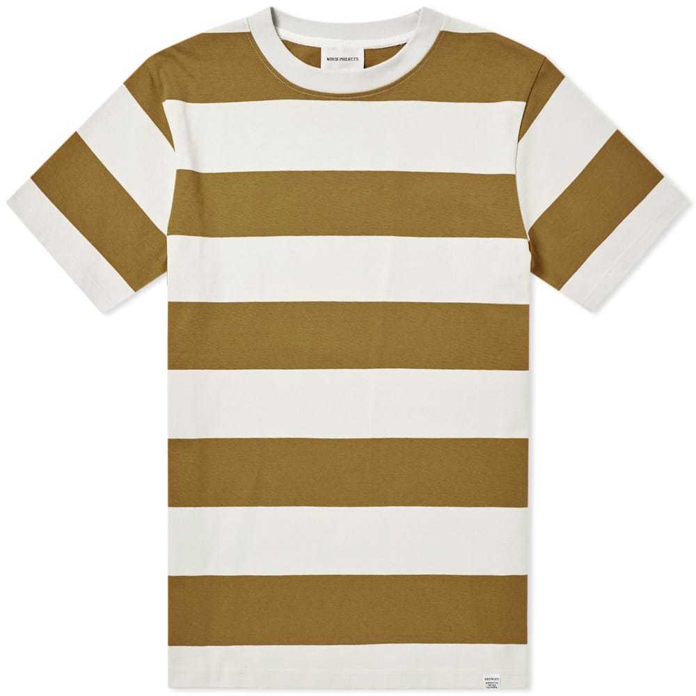 Photo: Norse Projects Johannes Wide Stripe Tee Brown